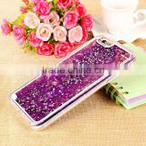 New Coming Transparent Clear Glitter Star Dynamic Liquid Quicksand Phone Back Cover Phone Case For Iphone7