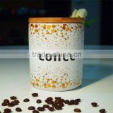 Metalic decal ceramic coffee canister