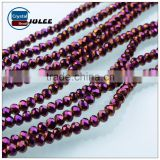 4mm Rondelle beads electroplating glass beads cheap price manufacture crystal beads                                                                                                         Supplier's Choice