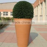large terracotta flower pot plastic, big outdoor planter