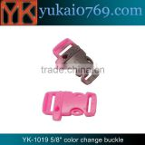 "Yukai 5/8"" plastic overall buckle/outdoor sports whistle buckle/paracord bracelet buckle"