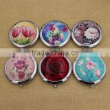 Round acrylic centerpiece mirror / whistling folding compact pocket mirror