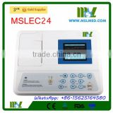 Factory sale 3 Channel ECG Machine for Pets/Veterinary ECG Machine MSLEC24-4