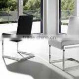hot sale casual brushed aluminum dining table and chair