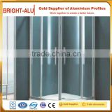 Customized China supplier aluminum frame double sliding shower cabin shower profile
