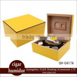 Hot sale Wholesale cedar wood cigar humidor gift set cigar box with cigar ashtray cigar cutter