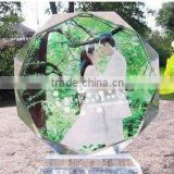 Hot sales china products color printing wedding souvenir or decoration picture crystal photo frame