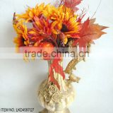 Excellent quality beautiful artificial pumpkin bouquets with sun flower maple leaves harvest home decoration bouquet
