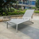 2015 new arrival Aluminum furnitureTextileen sun lounger garden stacking lounge chair beach chair