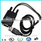 80 cm 9 pin male rs232 to usb b PL2303 cable for printer