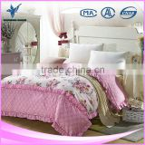 Wholesale High Quality Flower Printed Silk Duvet Cover Sets