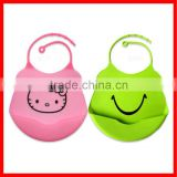 Washable and microven use safe silicone baby body bibs
