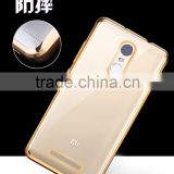 Electroplate TPU cover case for Xiaomi RedMi Note 3 / HongMi note 3/RedMI note 4