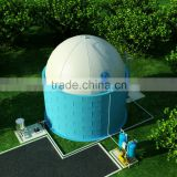 chinese soft dome biogas plant for pig farm with 800