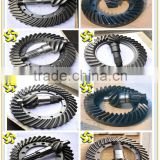 factory best price Chinese construction machinery wheel loader Roller Grader spare parts steel forged gears, Spiral bevel