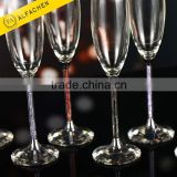 Best Selling Toasting Champagne Flutes Multicolor Crystalline Elements Home Decor Drinkware Glass Champagne