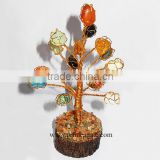 Multicolor Gemstone Tumble Wire Wrapped Tree | High Quality Perfect Carving Agate Tree for Sale