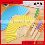 Hot selling folding paper bamboo fan