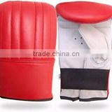 Nice Quality Red Boxing Gloves with White Palm made of Real Leather from Pakistan/karate Mitts