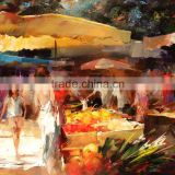 Modern Abstract lanscape Decorative Oil Painting,Living room wall art paintings pictures hand-painted Knife Painting