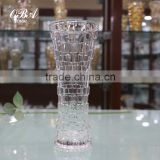 Clear Glass Vases Wholesale Cheap,Machine Made Glass Vase With Straw Mat,Decoration Flower Vase