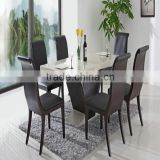 Simble solid surafce dining table / artificial stone table top with stainless steel table base