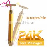 Hot sale vibrating face 24K cosmetic device NEW Personal Massager Energy 24K Gold Beauty Bar Home Use Device