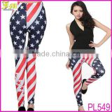 2014 Summer Women's Funky Digital Printed USA Flag Spandex Leggings Sexy Women Street Style Tights Cheap Womens Long Pants