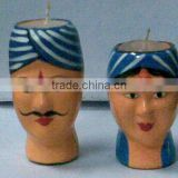 Paper Mache Mashi Candle Man Woman Design X Mas Decoration Handmade Art And Craft designer Candle