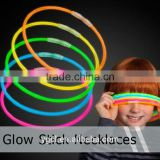 Factory Supply 22 inch Glow in the Dark Glow Necklace, Glow Neck Ring