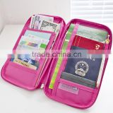 Multi-Functional Fashion Ticket Passport Credit Card ID Document Organizer Holder Bag Purse Travel Pouch Case Cover