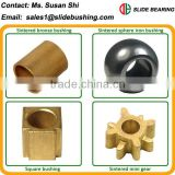 FU flanged oil retaining sintered bronze bearing oilite washer sintered gear powder iron bushing PM bronze spherical plain bush