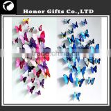 Colorful Promotional Home Decorative Plastic 3D Butterfly Stickers