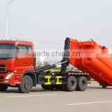10 wheel dongfeng LHD 16m3 hook lift compactor garbage truck prices