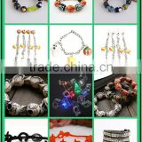 New arrival Halloween Day glass beads bracelets mens skull design bracelets for 2016 Halloween Day promotion products