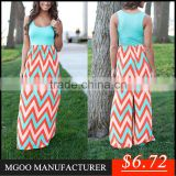 MGOO Top Selling OEM/ODM Wholesale Stock Women Printed Maxi Dress Ladies African Long Dress Bohemian Maxi Clothing Z589