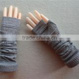 Winter long sleeve cashmere knitted women gloves