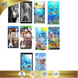 cheap wholesale microfiber high-quality cute cat and dog printed beach towel china supplier