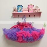 Fashion Casual Girl purple Tutu Gray Ribbon Skirt Baby Birthday Party Pettiskrit