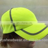 Neon green Racing Sport Dry Fit Mesh Running Hat Caps with Reflective Strip