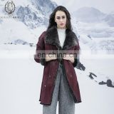 Graceful Boedeaux Reversible Rex Rabbit Fur Jacket Trend Rex Rabbit Fur Skin Coat Double Face Fur Coat
