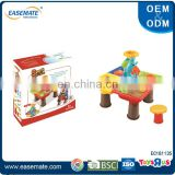 Colorful kids summer toy plastic beach sand table play set