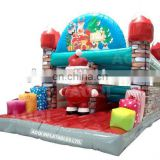 Outdoor santa jumping inflatable bouncer christmas priducts for sale