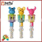 Cute animal shape baby shaking hand bells candy toy
