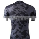 Wholesale In stock Men Tight Compression T-shirts For Gym Bodybuilding Running Sportswear