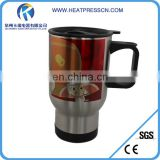 Stainless Travel Mug Silver For Sublimation Dye Heat transfer