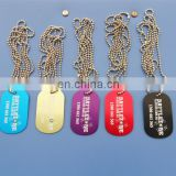 aluminum military tags with printing logo/personalized logo human dog tag