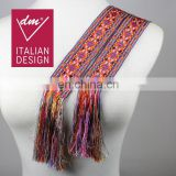 "Vintage guatemalan multi-colored woven sash belt ""Faja"", traditional mayan textile"