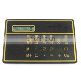 3mm Thickness Slim Flat Solar Digital Portable Pouch Mini Calculator