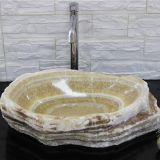 Honey Onyx Bathroom Wash Basin Luxury Stone Vessle Sink
